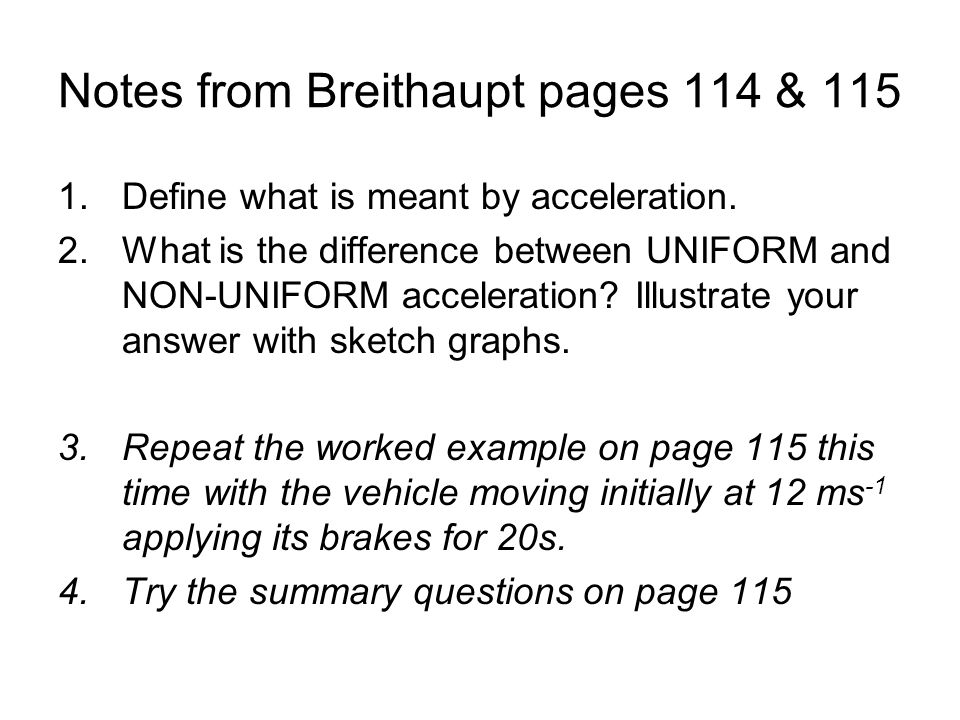 Notes from Breithaupt pages 114 & 115