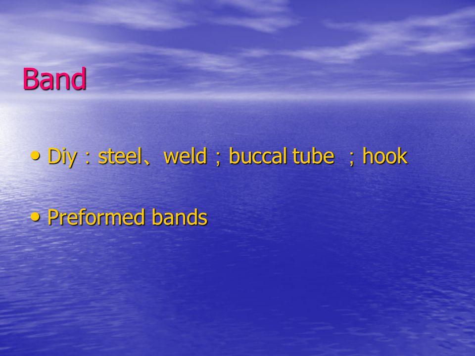 Band Diy:steel、weld;buccal tube ;hook Preformed bands