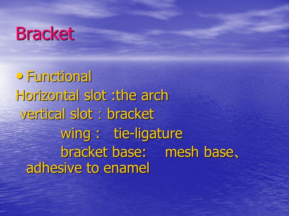 Bracket Functional Horizontal slot :the arch vertical slot:bracket