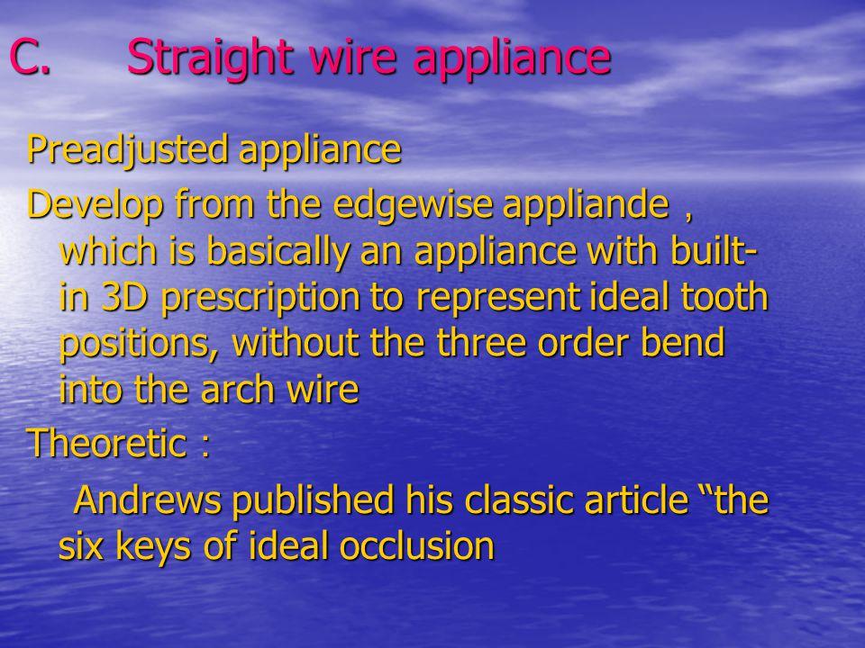 C. Straight wire appliance