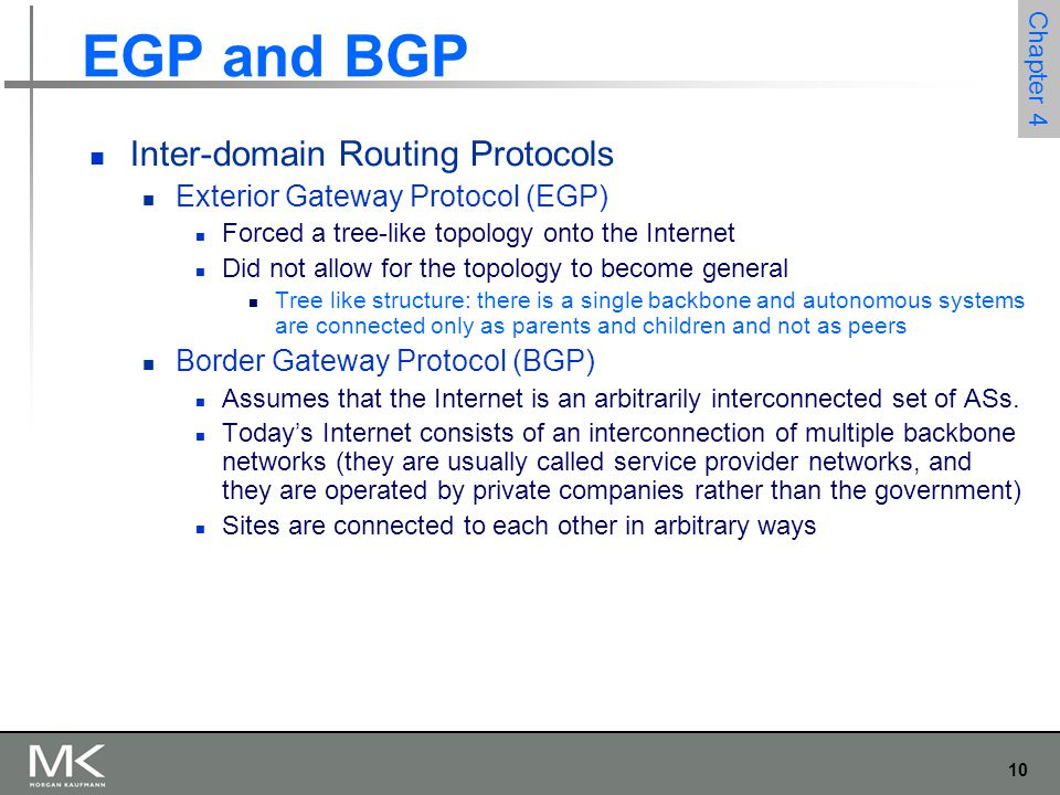 EGP and BGP Inter-domain Routing Protocols