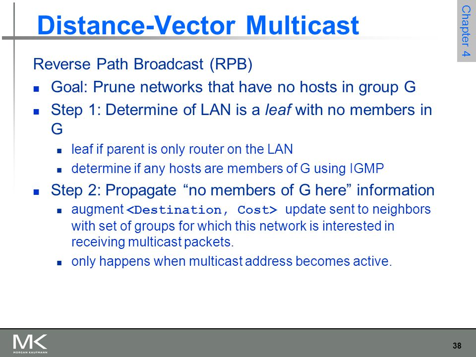 Distance-Vector Multicast