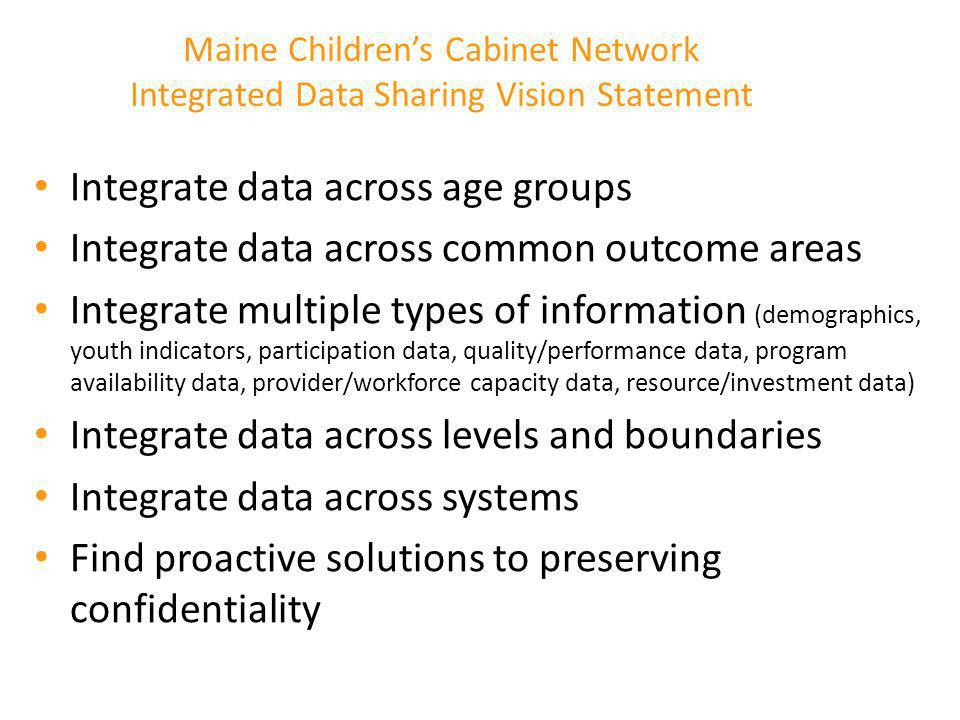 Integrate data across age groups