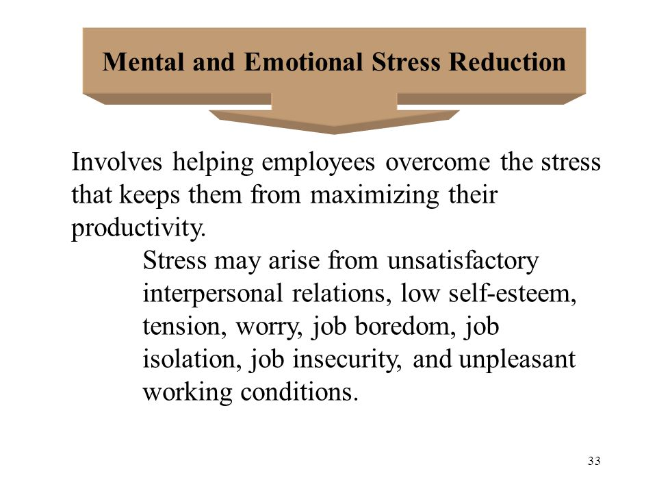 Mental and Emotional Stress Reduction