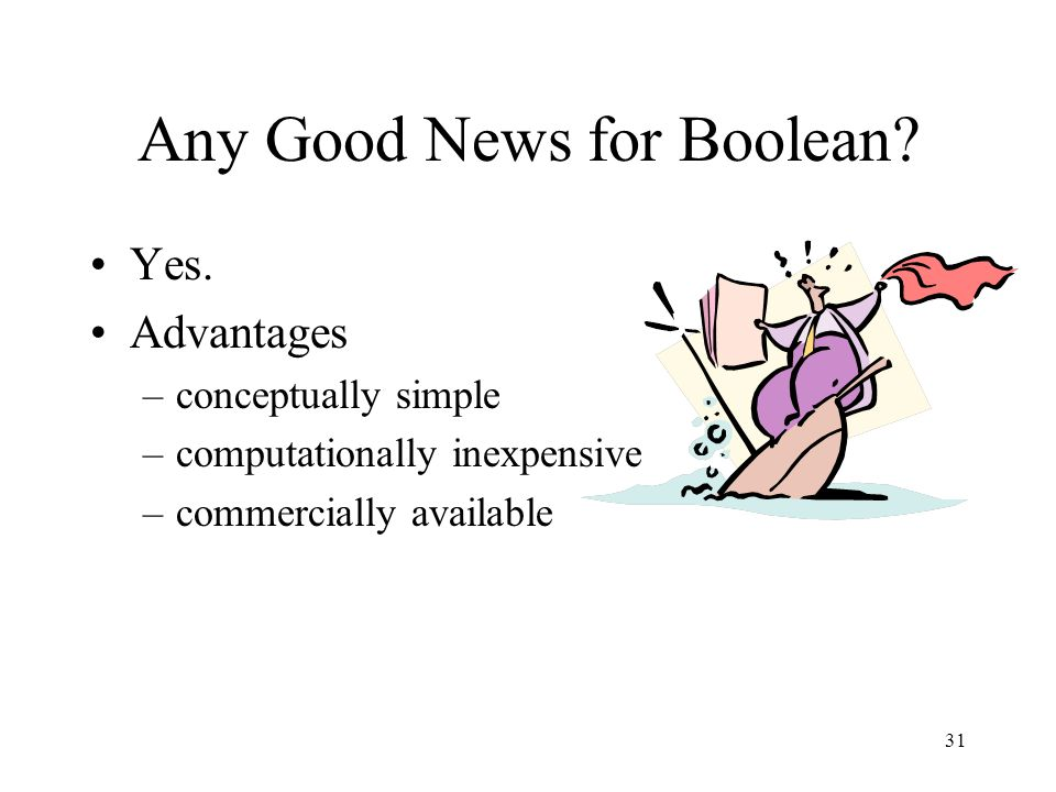 Any Good News for Boolean