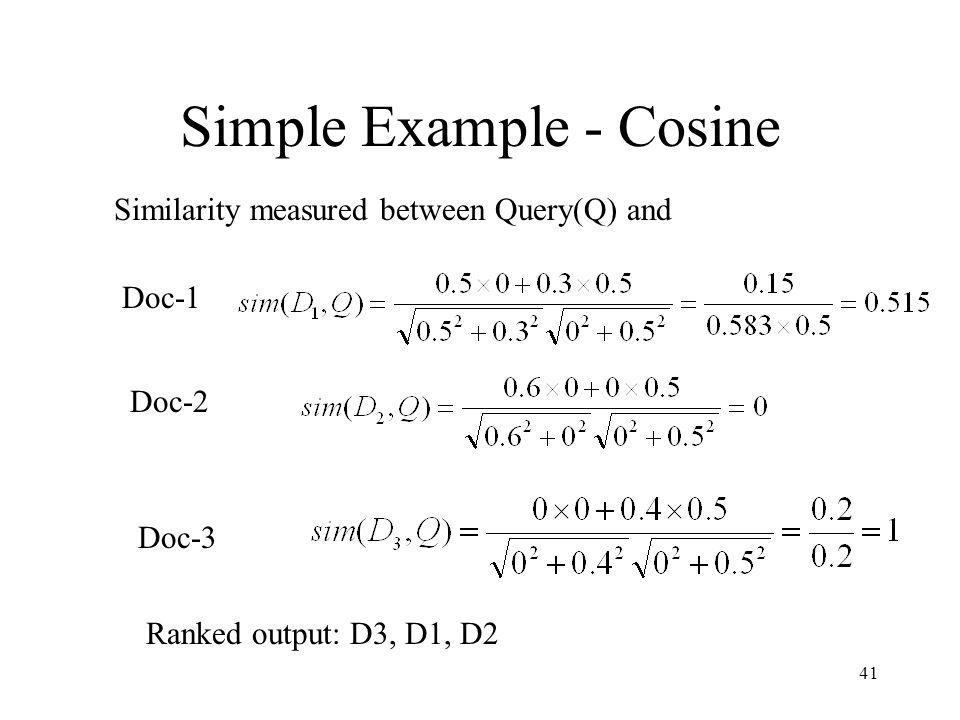 Simple Example - Cosine