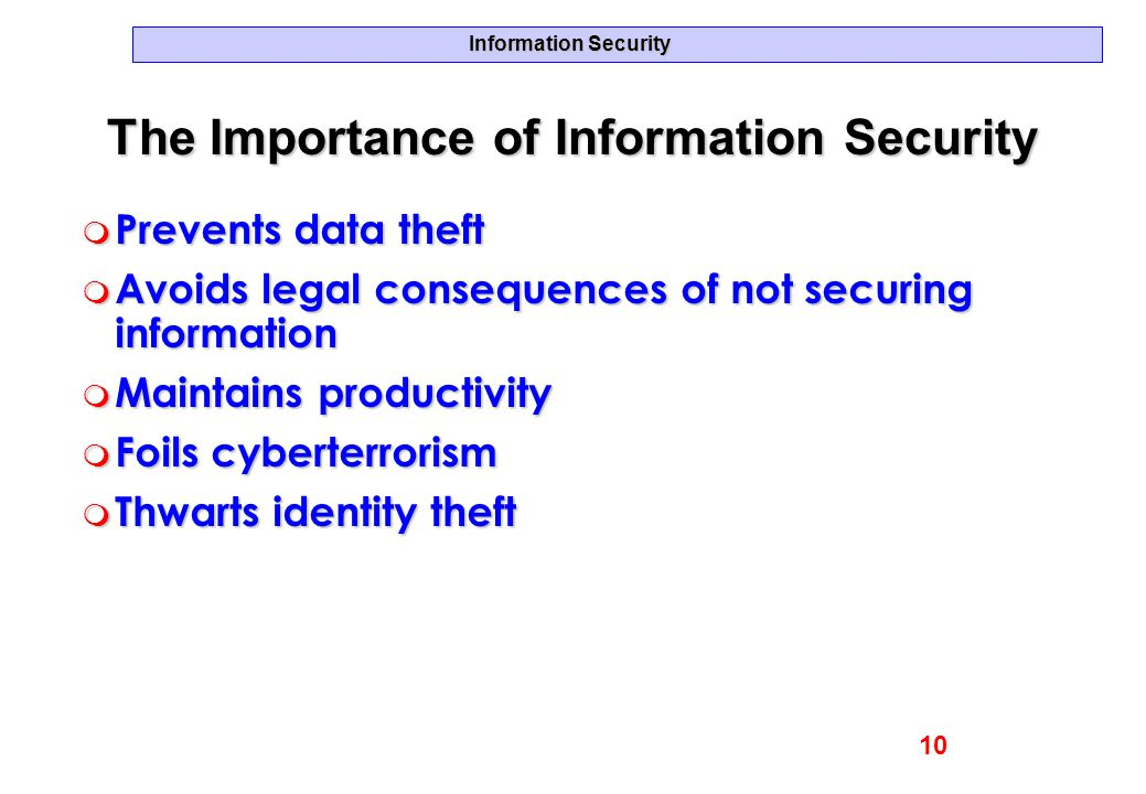 The Importance of Information Security