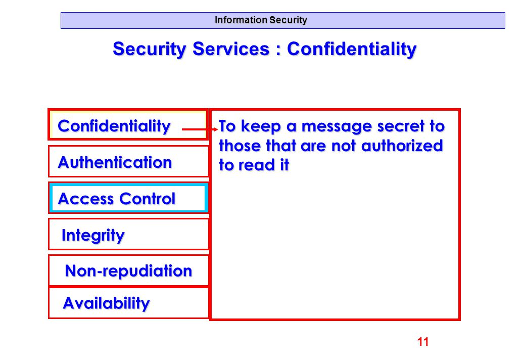 Security Services : Confidentiality