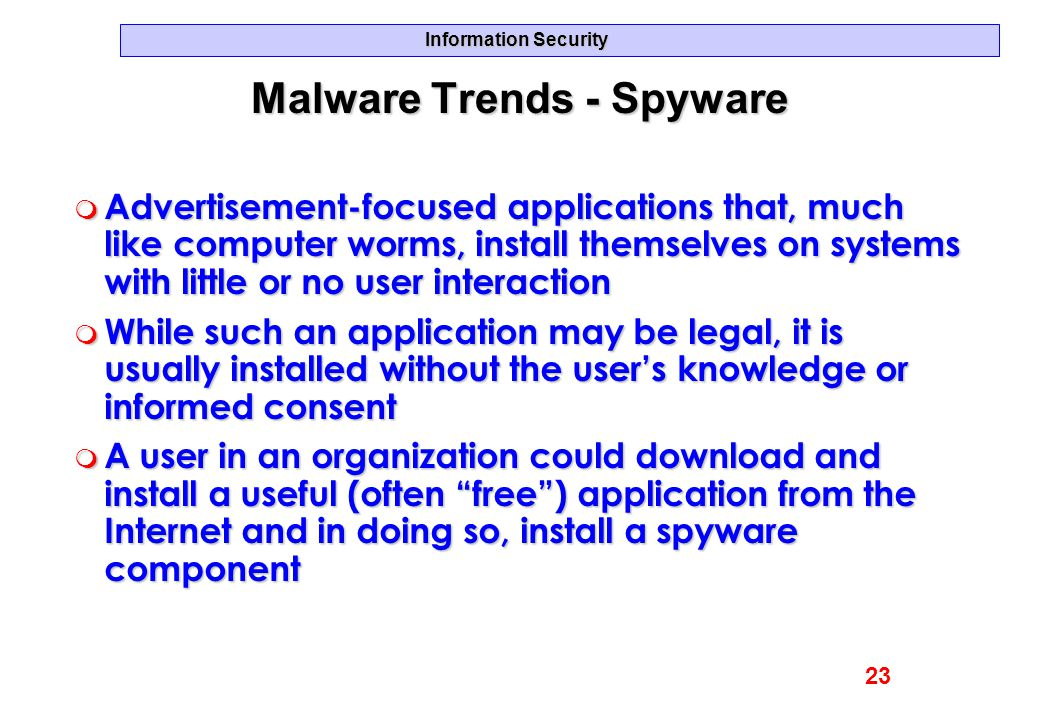 Malware Trends - Spyware
