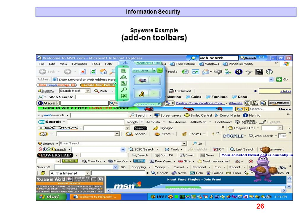 Spyware Example (add-on toolbars)