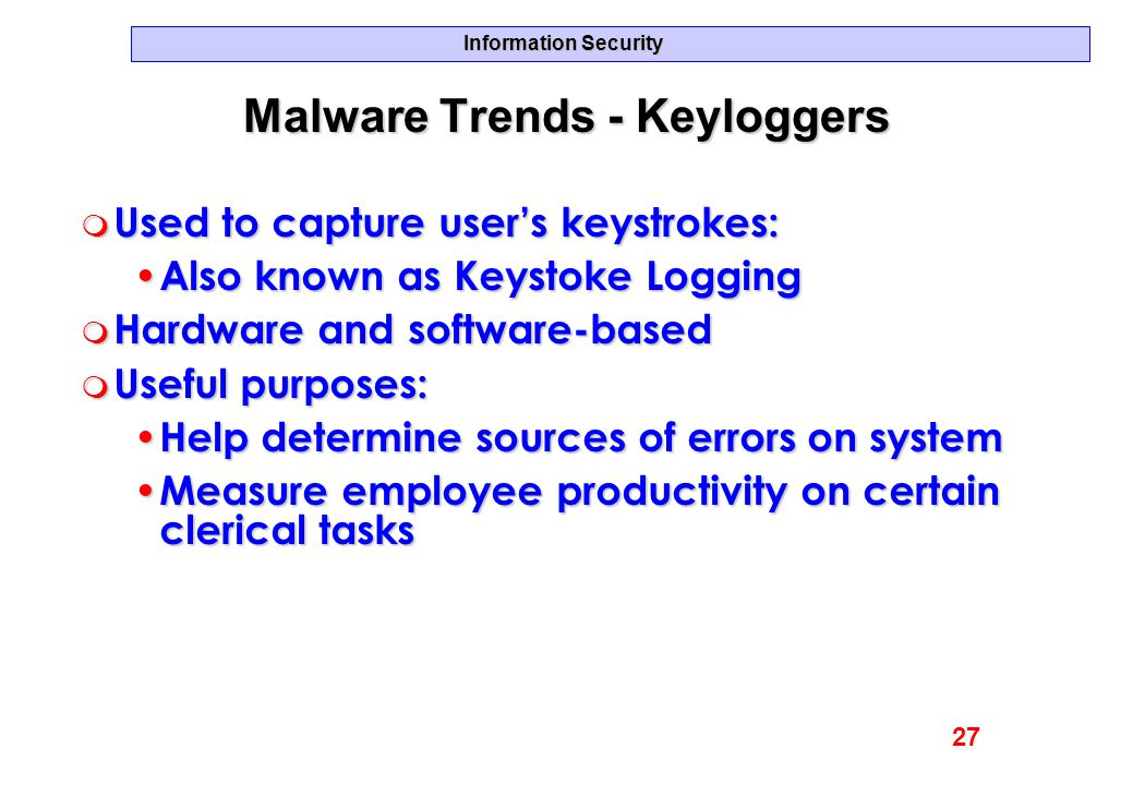 Malware Trends - Keyloggers