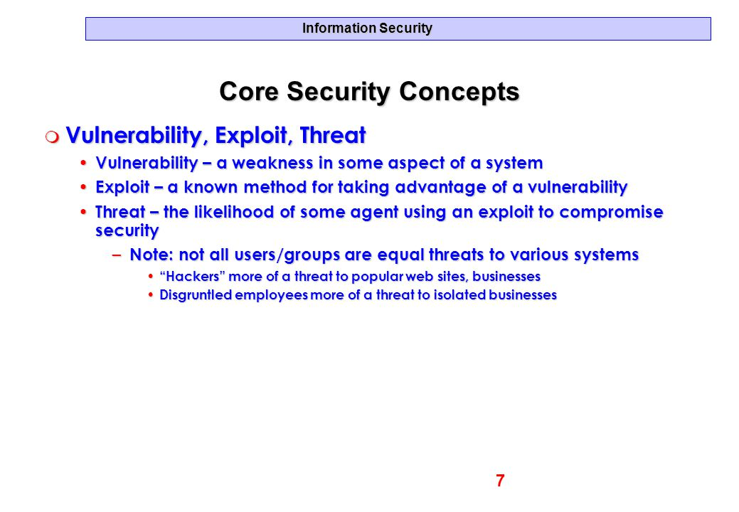 Core Security Concepts