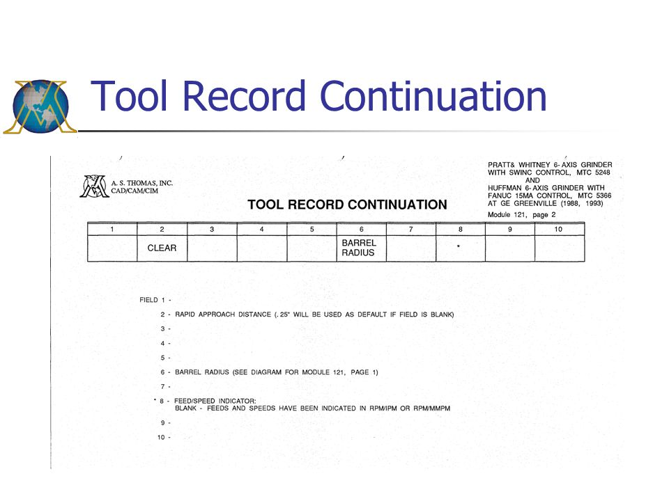 Tool Record Continuation