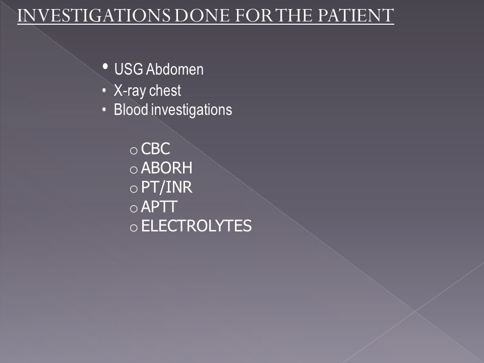 USG Abdomen INVESTIGATIONS DONE FOR THE PATIENT X-ray chest
