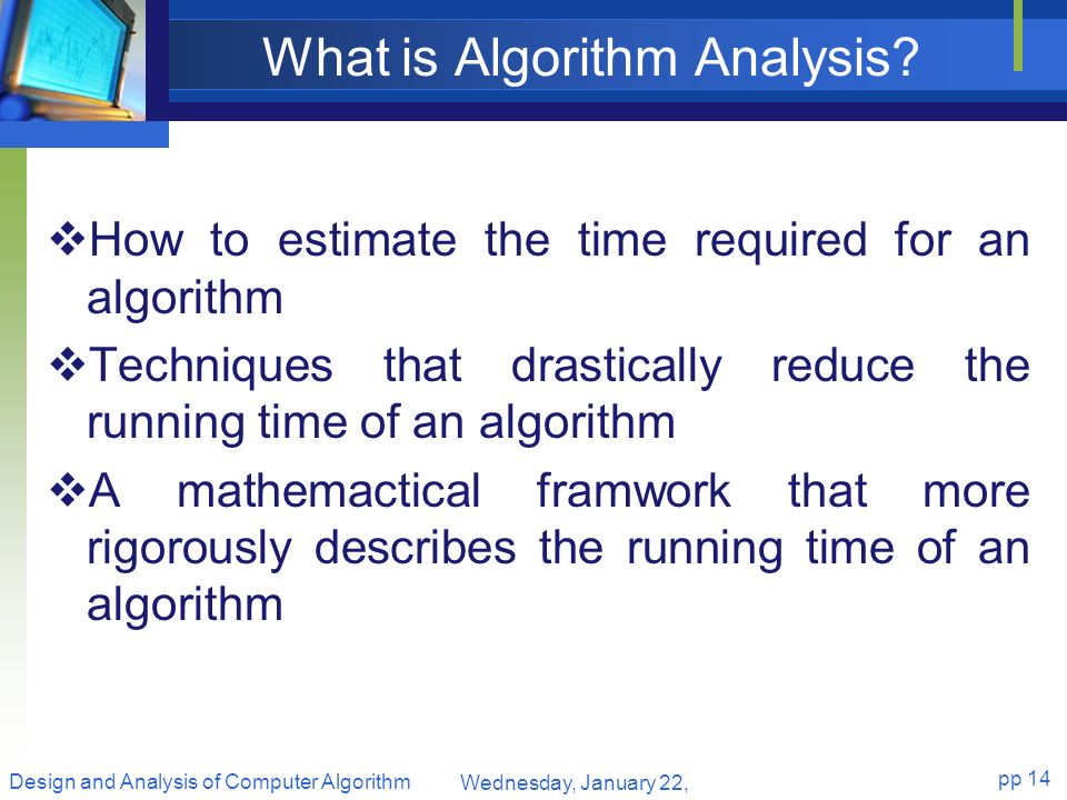 What is Algorithm Analysis