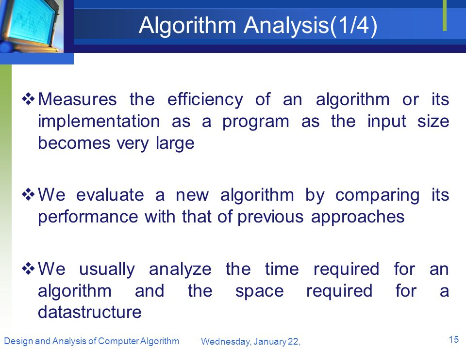 Algorithm Analysis(1/4)