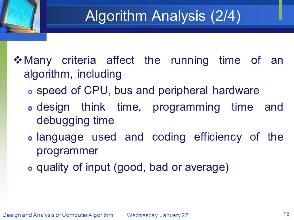 Algorithm Analysis (2/4)