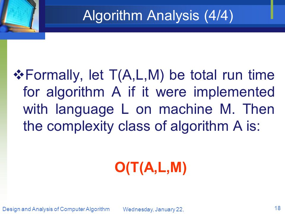 Algorithm Analysis (4/4)