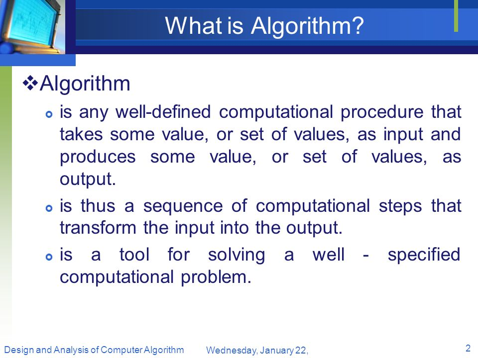 What is Algorithm Algorithm
