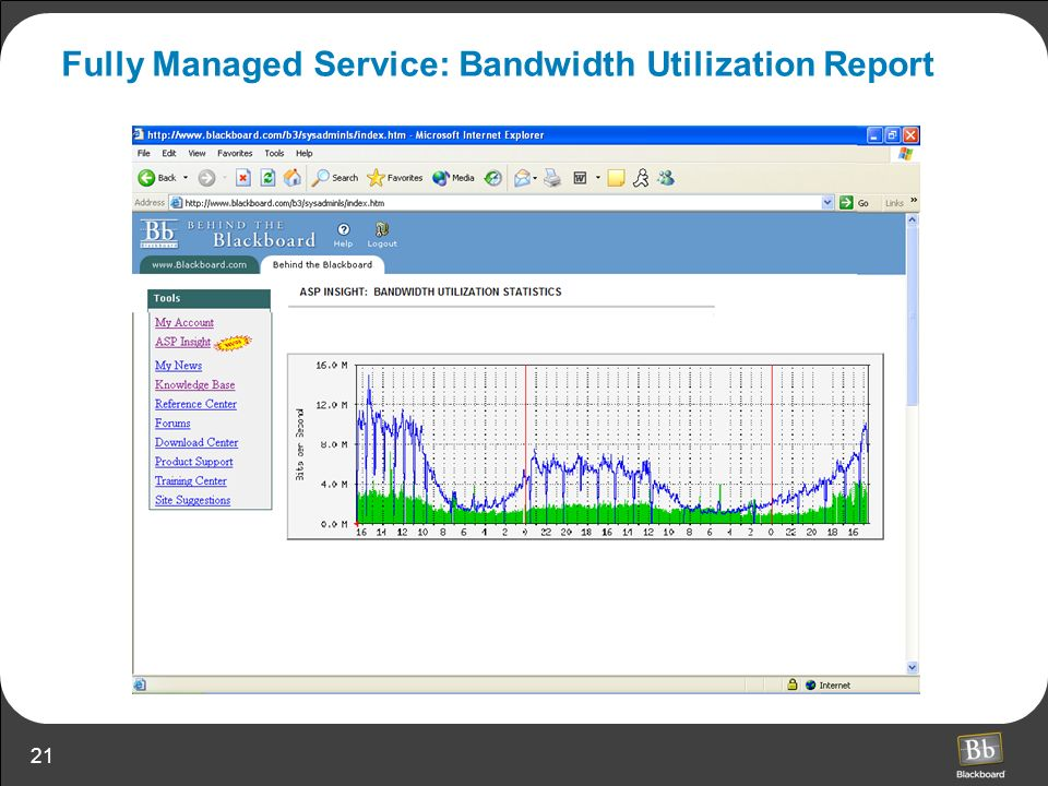 Fully Managed Service: Bandwidth Utilization Report