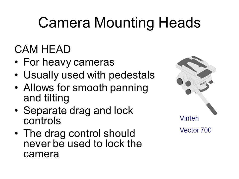 Camera Mounting Heads CAM HEAD For heavy cameras