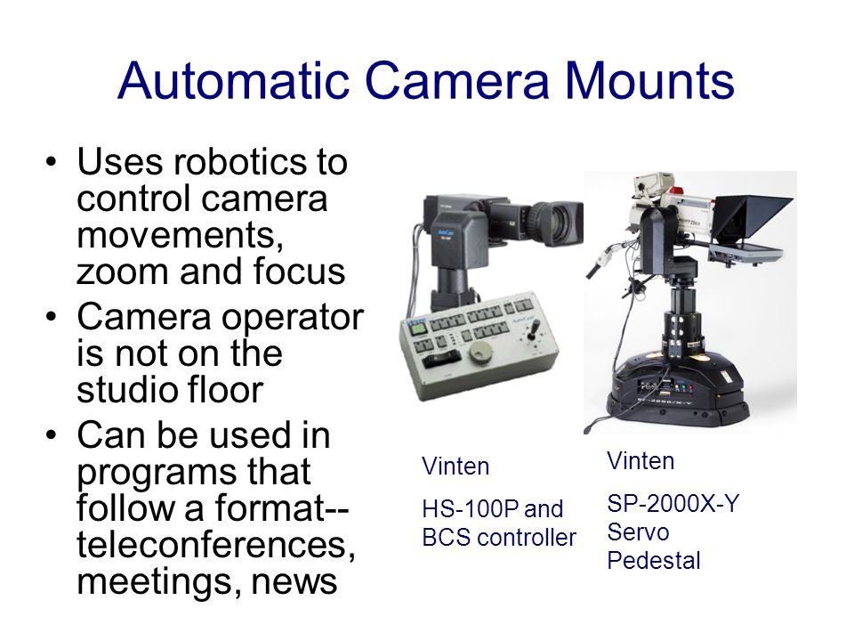 Automatic Camera Mounts