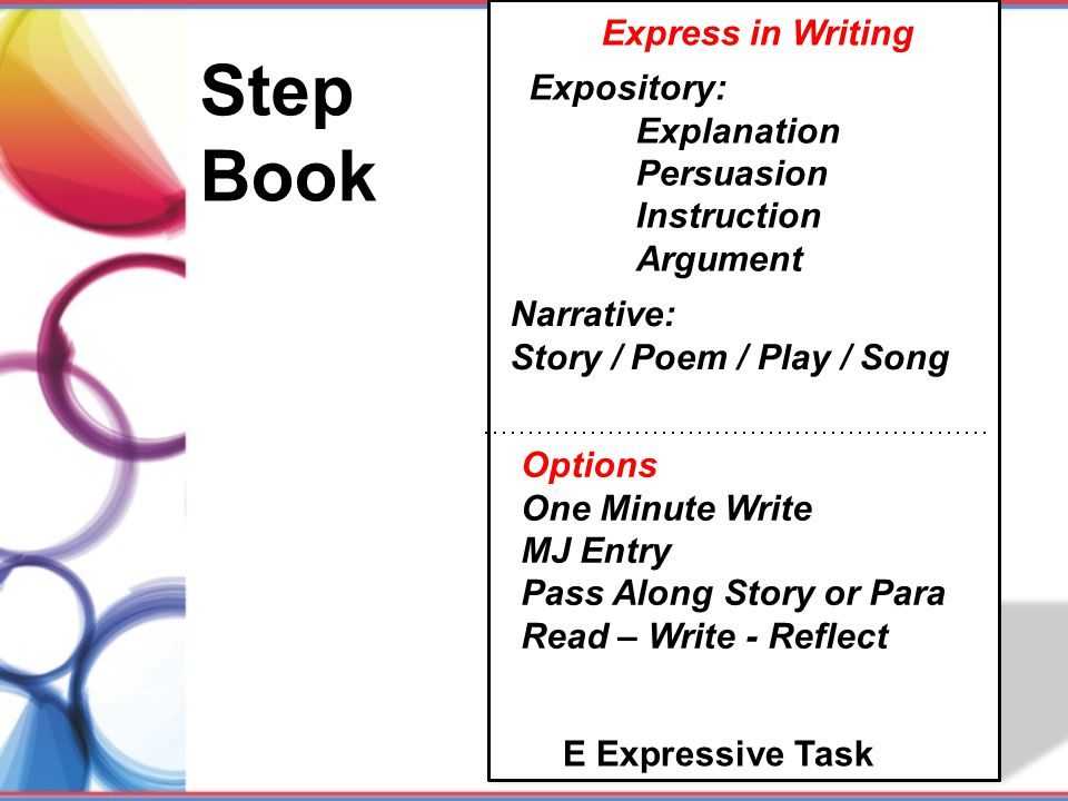 Step Book Express in Writing Expository: Explanation Persuasion