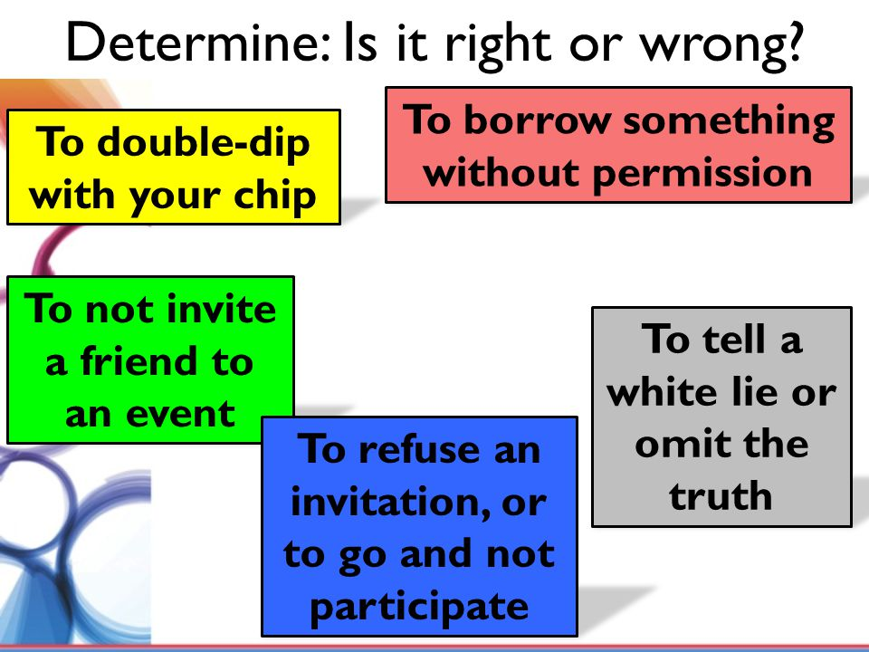 Determine: Is it right or wrong