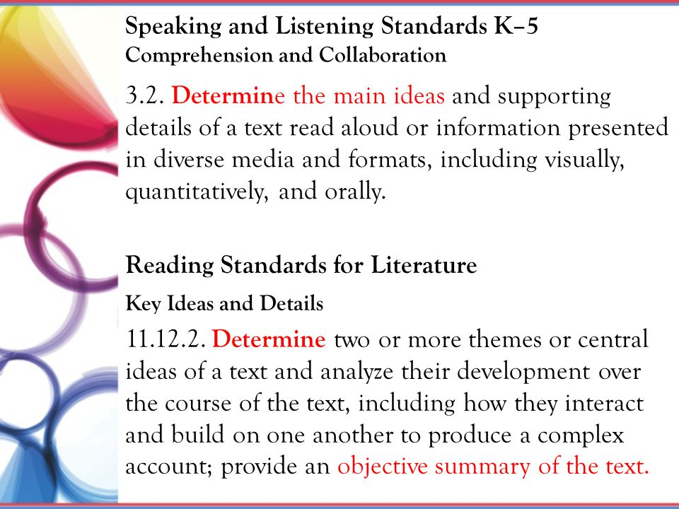 Speaking and Listening Standards K–5