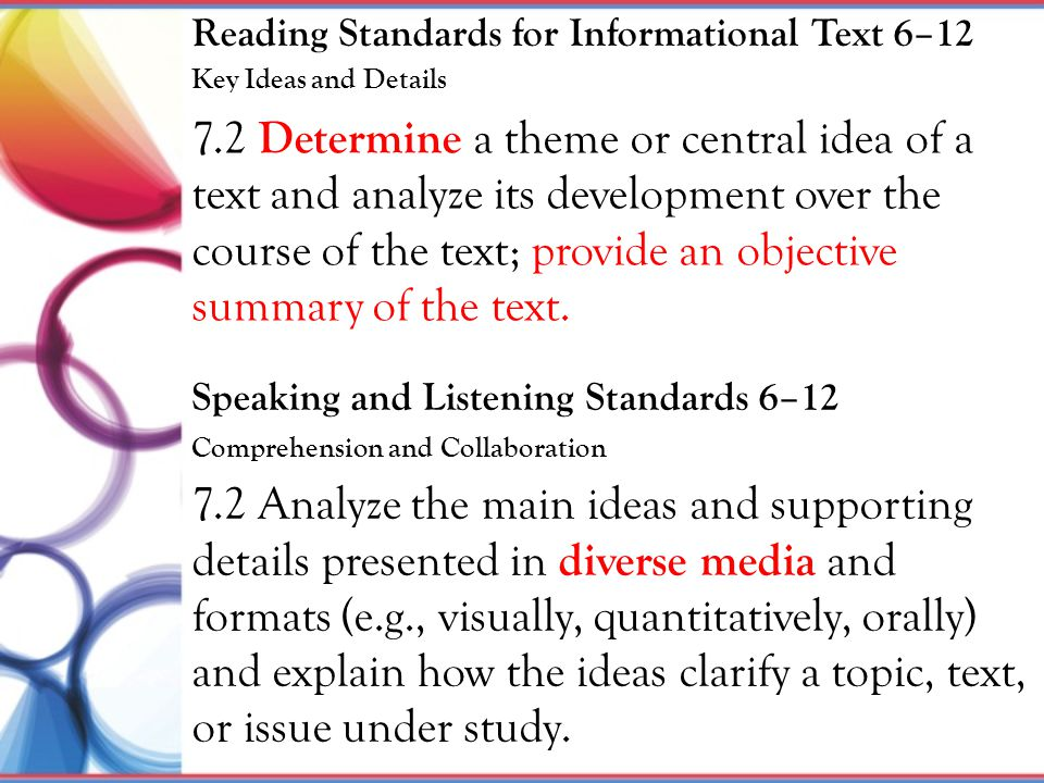 Reading Standards for Informational Text 6–12