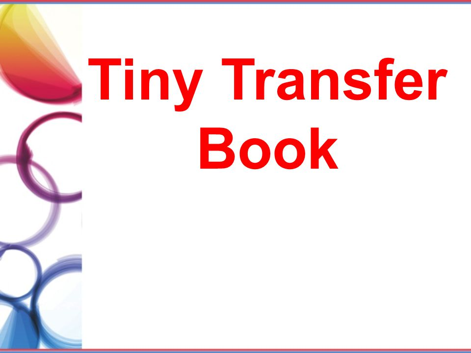 Tiny Transfer Book Teaching and Learning- Cartoons
