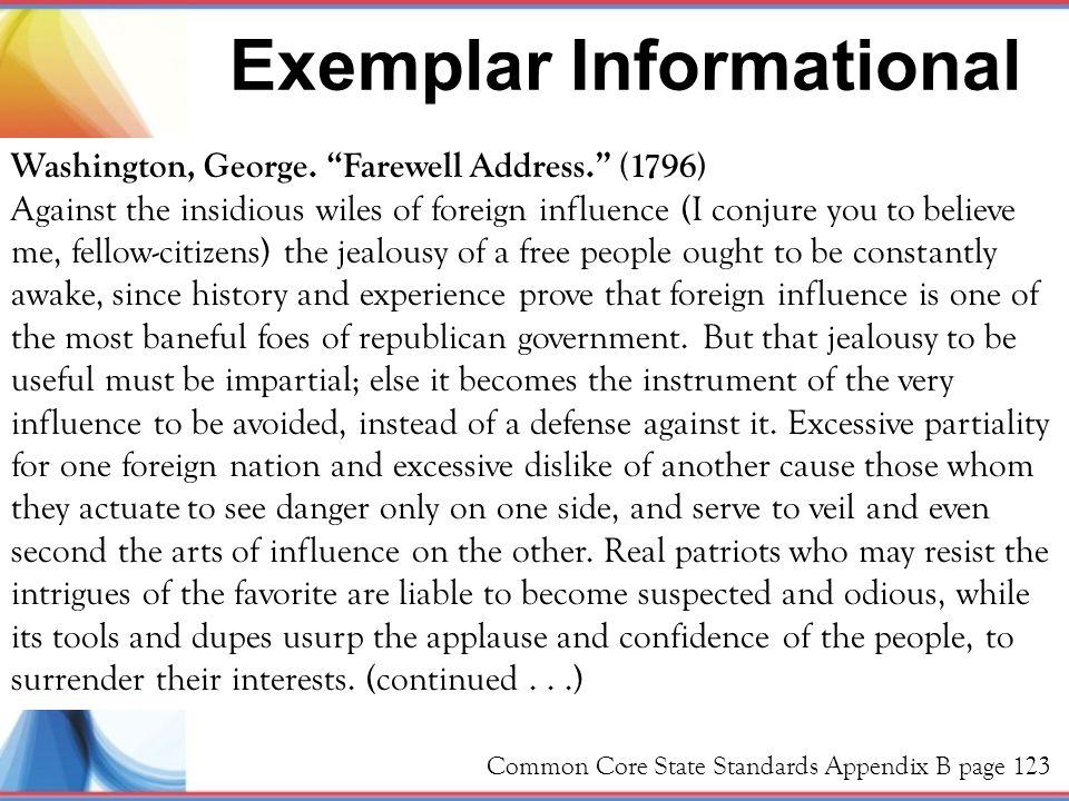 Exemplar Informational