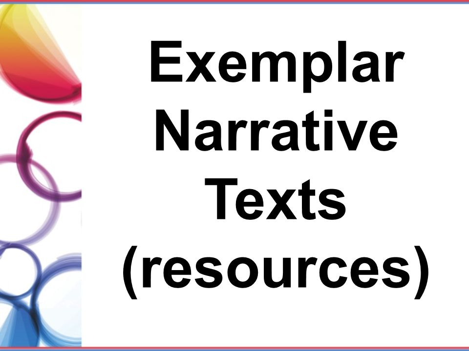 Exemplar Narrative Texts (resources)