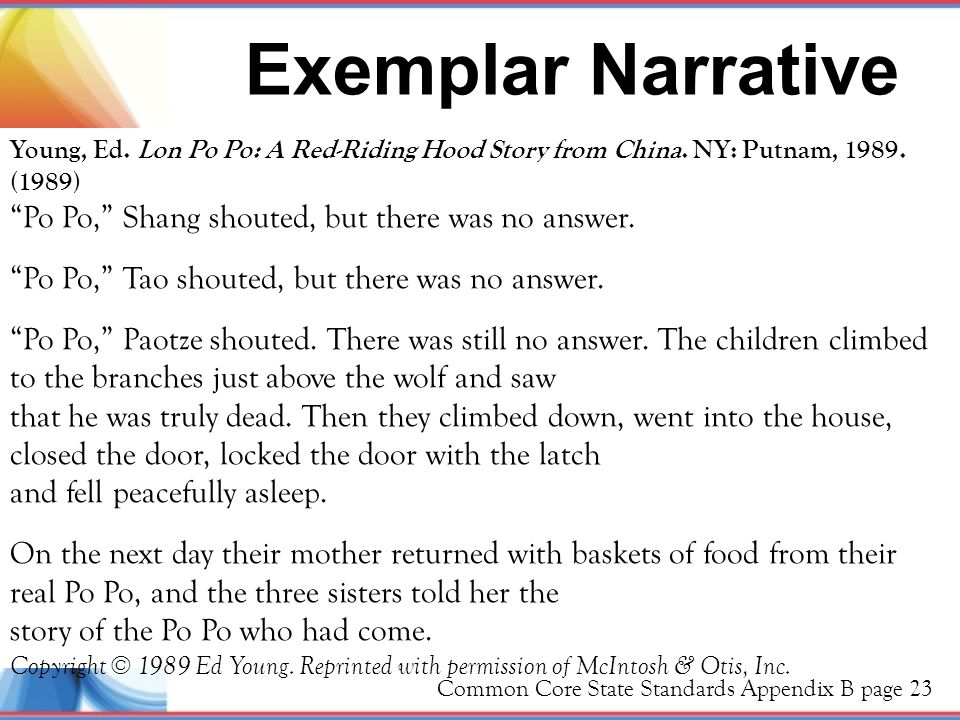 Exemplar Narrative Po Po, Shang shouted, but there was no answer.