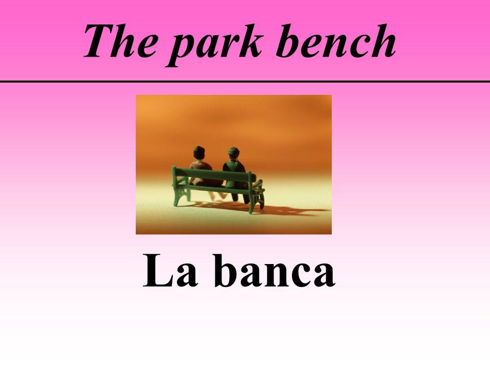 The park bench La banca
