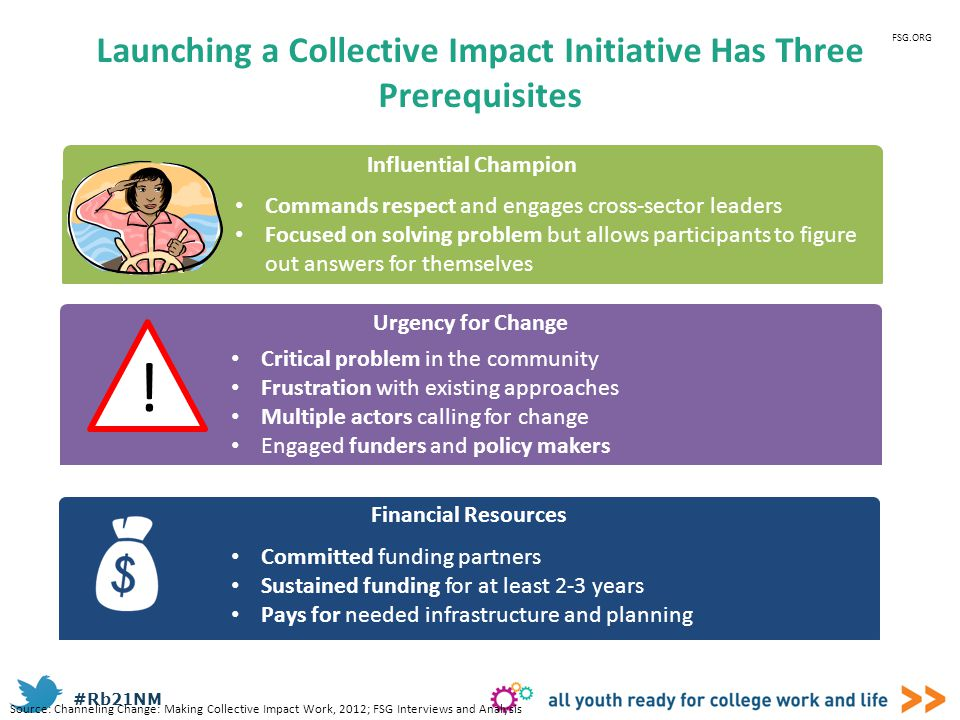 Launching a Collective Impact Initiative Has Three Prerequisites