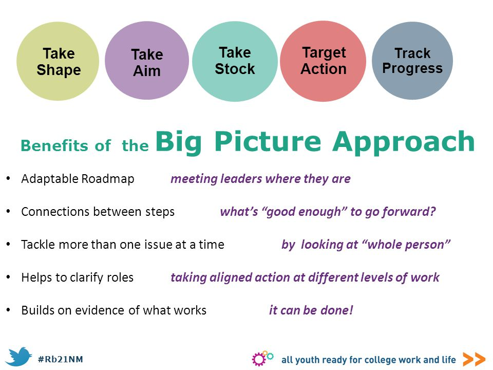 Benefits of the Big Picture Approach