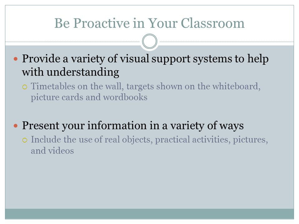 Be Proactive in Your Classroom