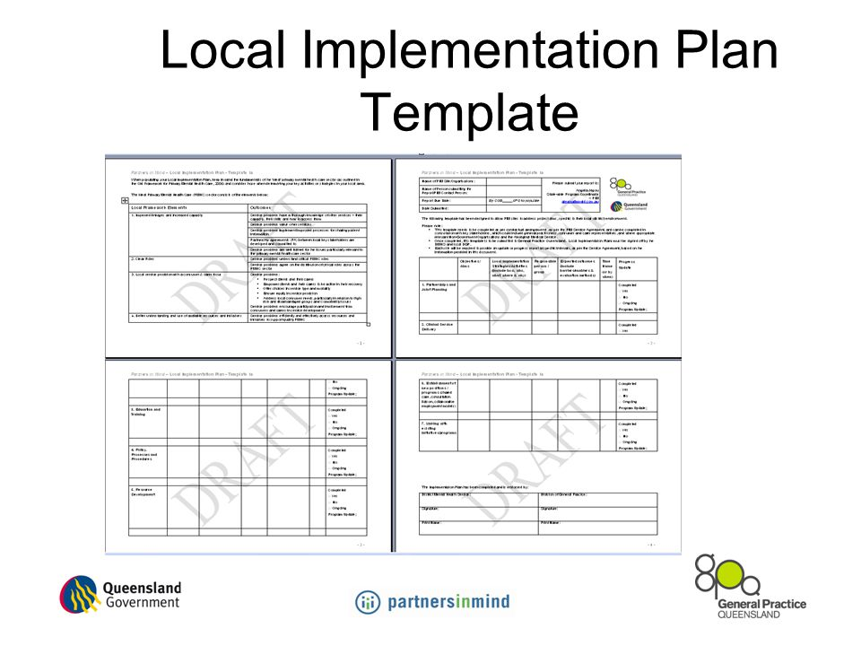 Local Implementation Plan Template