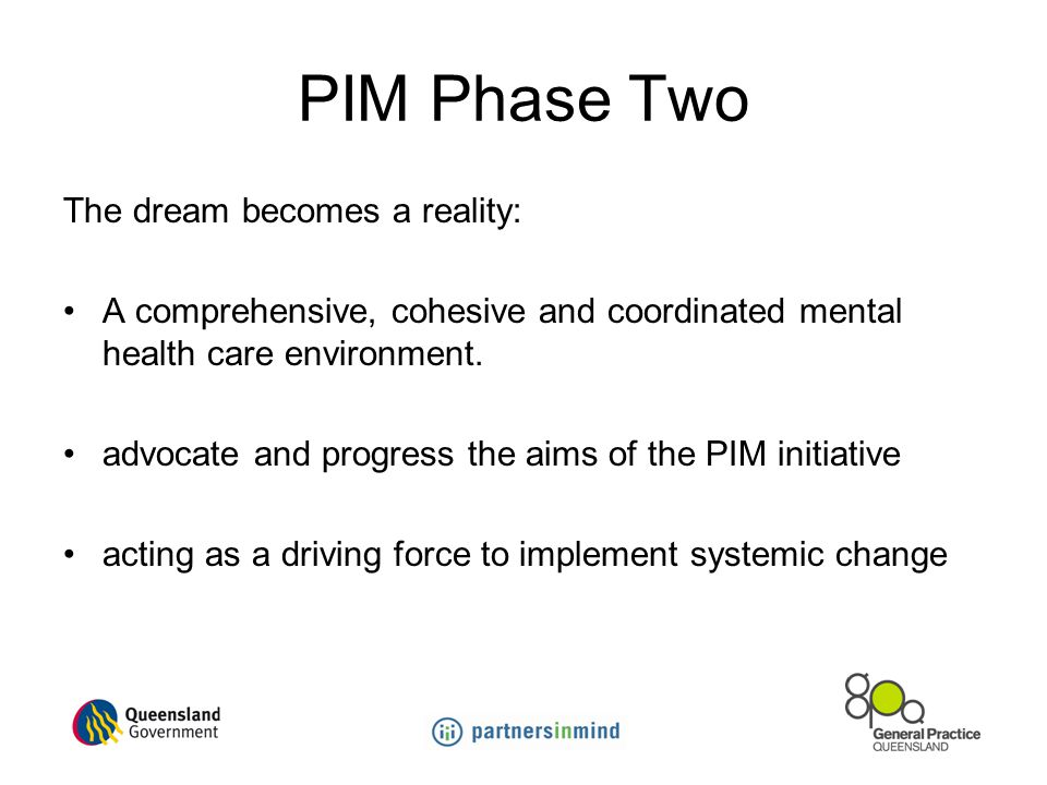 PIM Phase Two The dream becomes a reality: