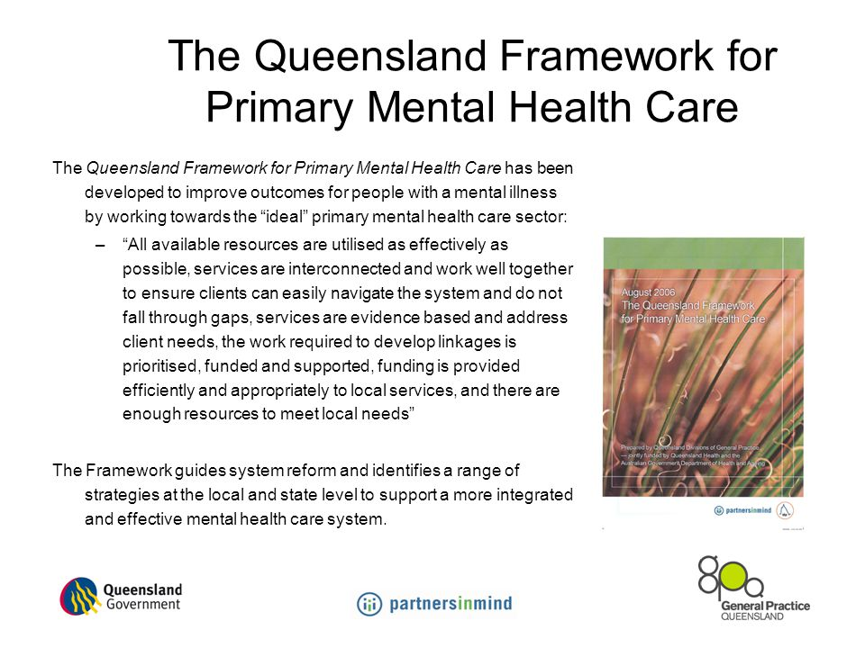 The Queensland Framework for Primary Mental Health Care