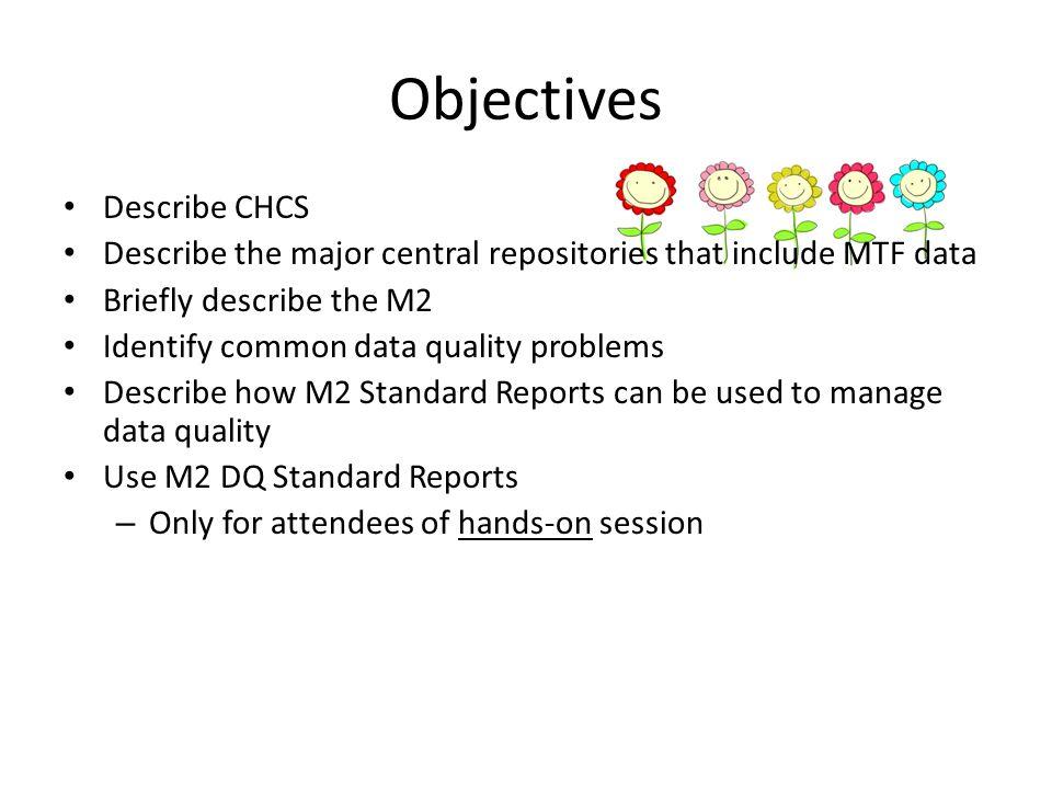 Objectives Describe CHCS