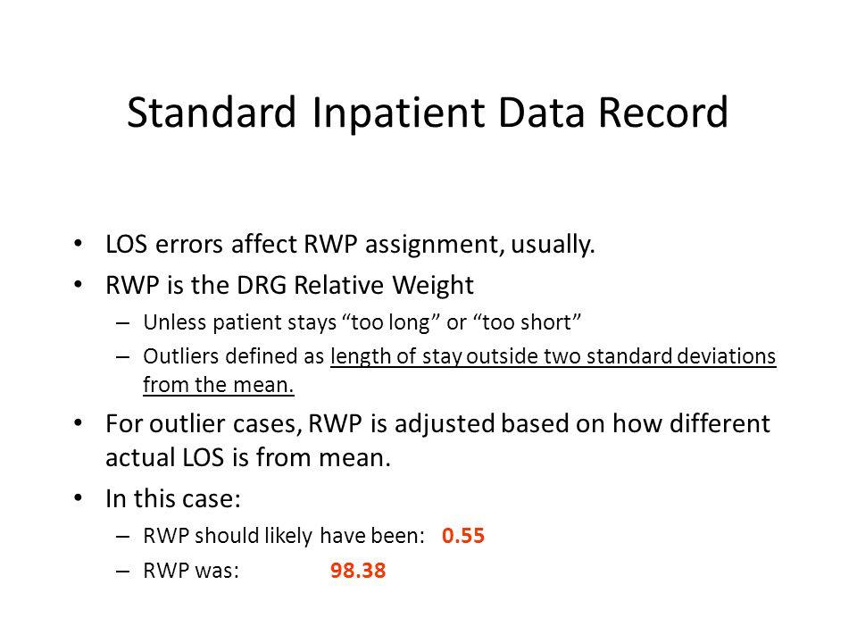 Standard Inpatient Data Record