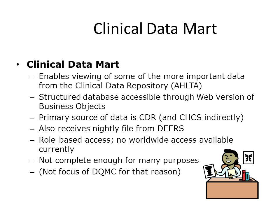 Clinical Data Mart Clinical Data Mart