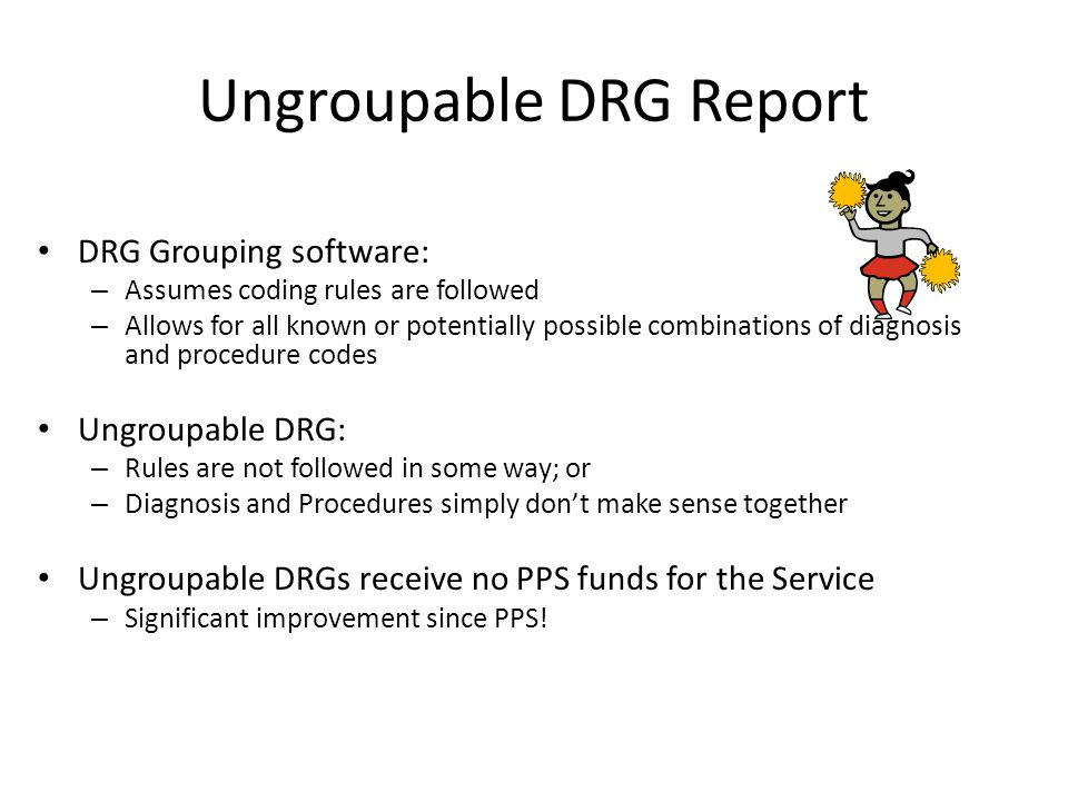 Ungroupable DRG Report