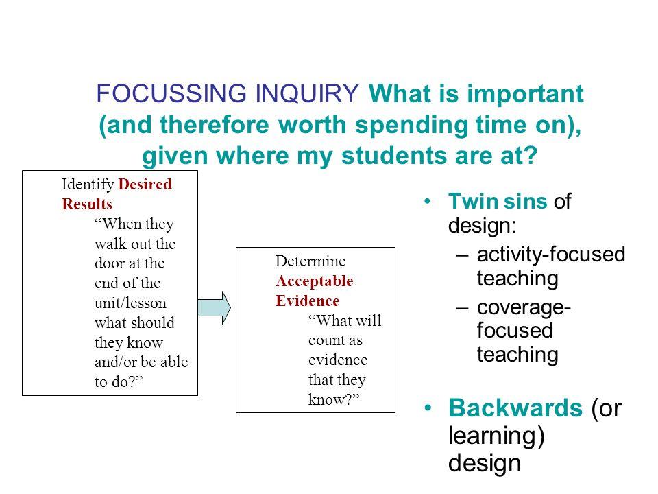 Backwards (or learning) design