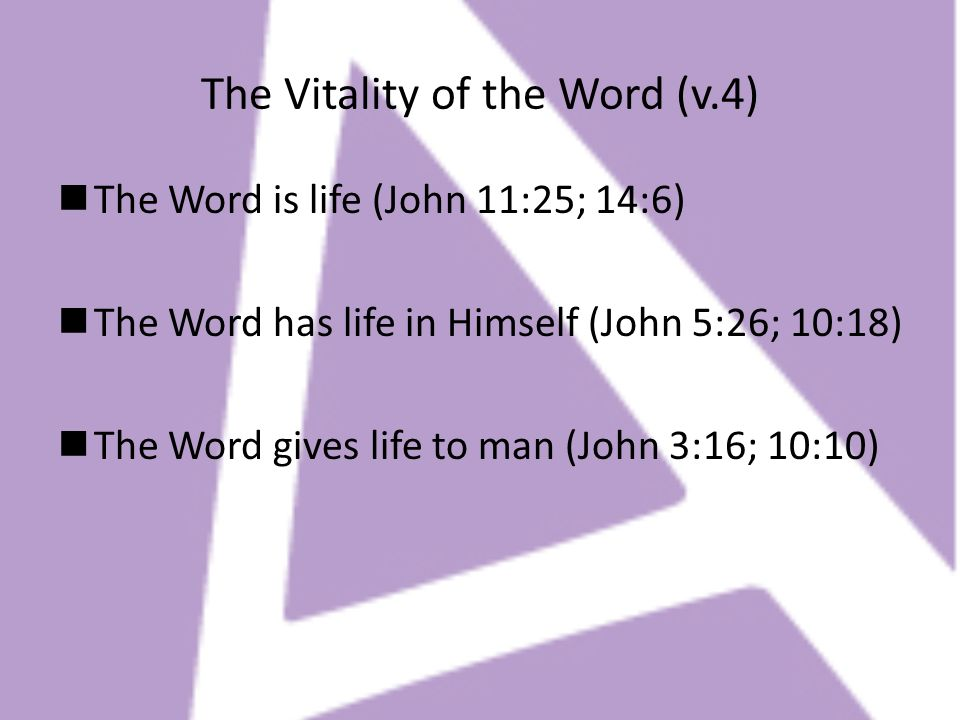 The Vitality of the Word (v.4)