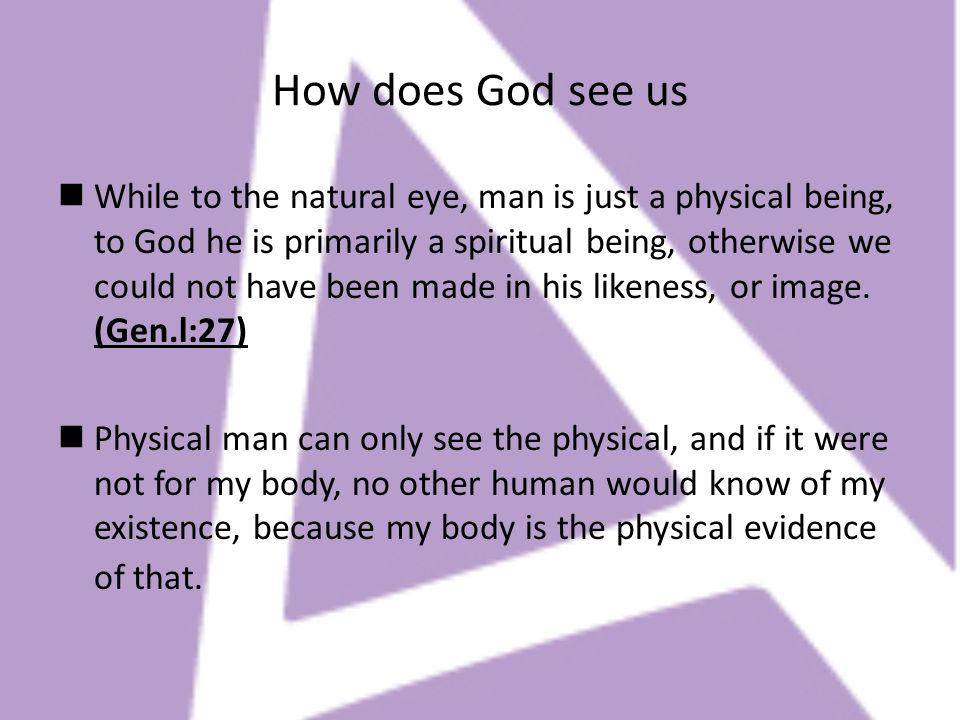 How does God see us