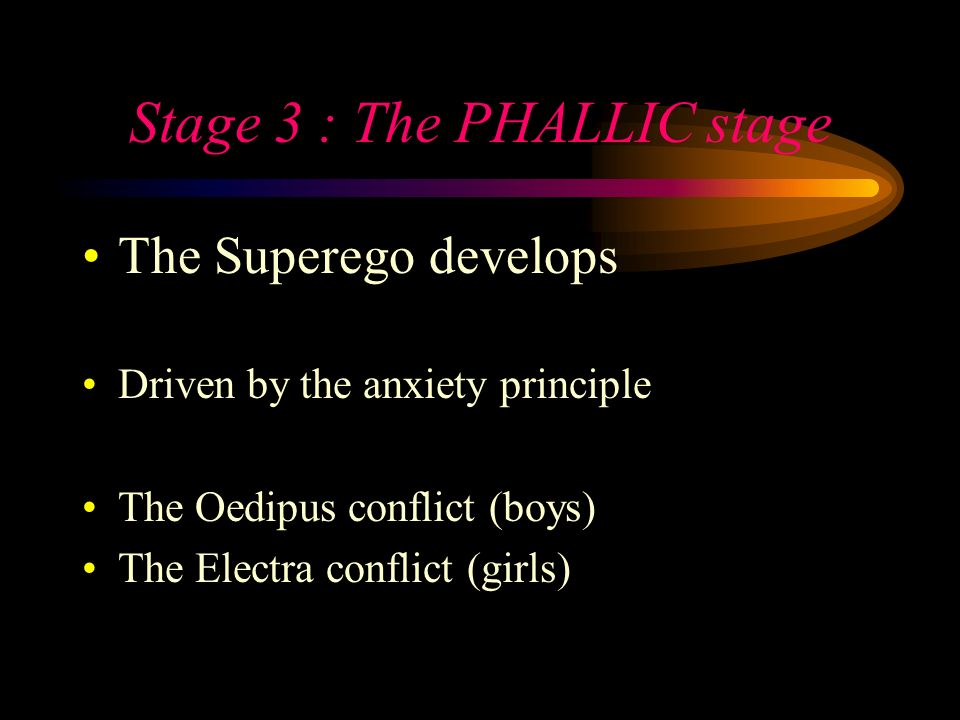 Stage 3 : The PHALLIC stage