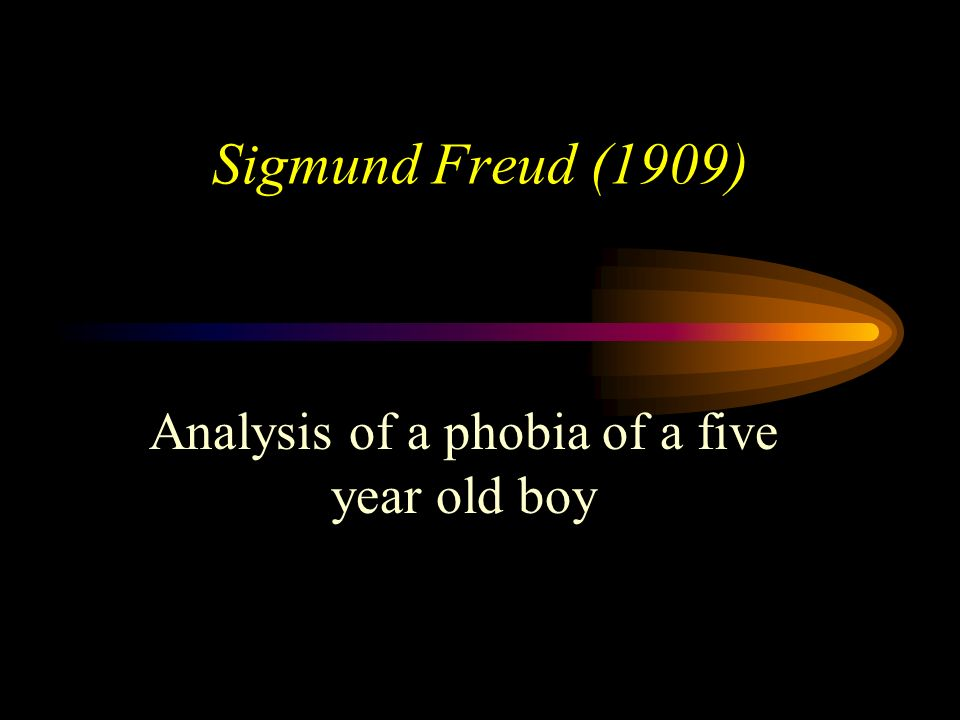 Analysis of a phobia of a five year old boy